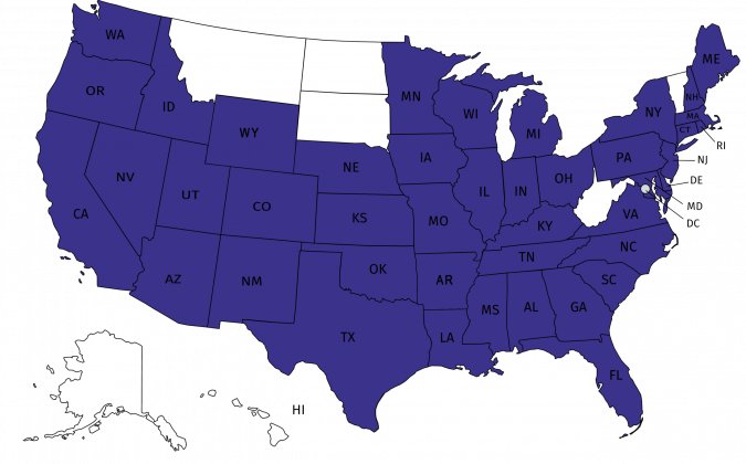 Map of Service Area for Janitorial Services